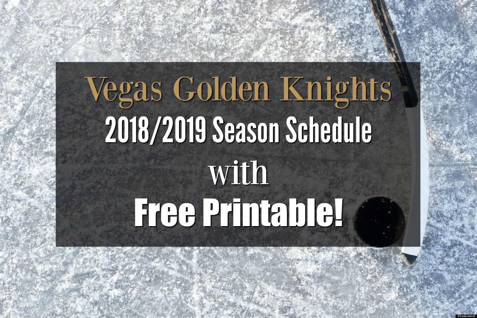 The Vegas Golden Knights released their schedule today! Unfortunately 7975b8a5d