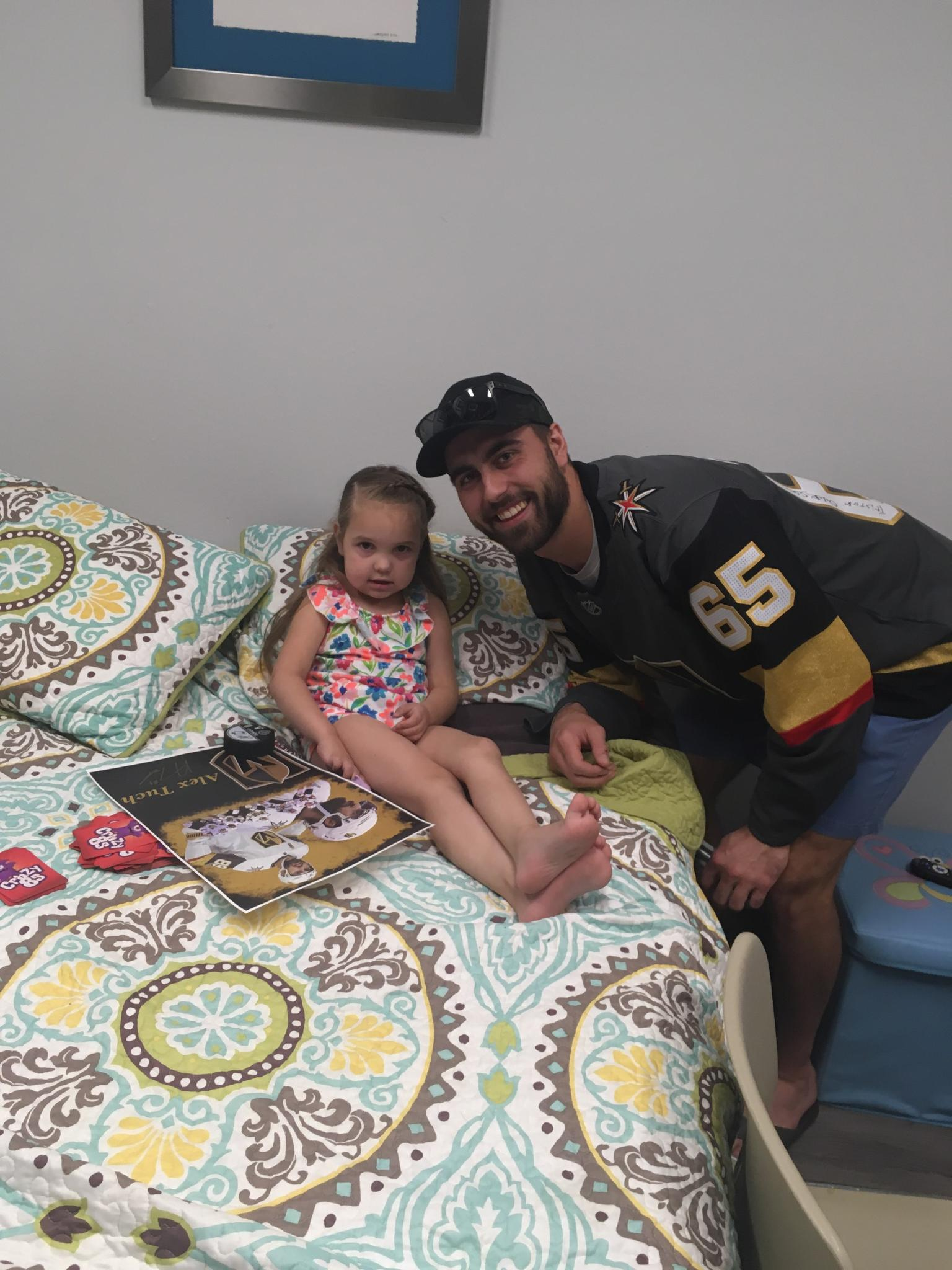 A Knight's Heart: Alex Tuch Visits CF Clinic